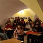 Sala w cerkwii na Miodowej 16 podczas spotkania