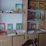 Biblioteka dla dzieci, które przychodzą na niedzielne zajęcia z języka ukraińskiego.